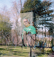 Artist Eric Fischl, who has a memoir coming out in May, poses for a portrait at his home in Sag Harbor, where he lives with his wife, the artist April Gornik. <br /> <br /> <br /> Danny Ghitis for The New York Times