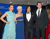 Lauren Cohan, Joanna Coles, Norman Reedus and Billy Eichner arrive for the 2015 White House Correspondents Association Annual Dinner at the Washington Hilton Hotel on Saturday, April 25, 2015.<br /> Credit: Ron Sachs / CNP
