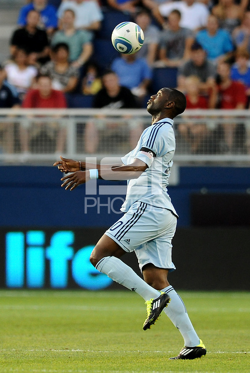 Birahim Diop (20) midfielder Sporting KC in action..... Sporting Kansas City were defeated 1-2 by Seattle Sounders at LIVESTRONG Sporting Park, Kansas City, Kansas.