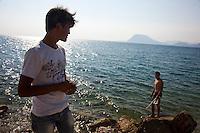 Grecia  Patrasso 2011 rifugiati afghani <br /> Grece ville de Patras  2011 - refugies afghans