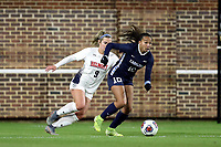 CHAPEL HILL, NC - NOVEMBER 16: Rachel Jones #10 of the University of North Carolina is chased by Grace Parsons #9 of Belmont University during a game between Belmont and North Carolina at UNC Soccer and Lacrosse Stadium on November 16, 2019 in Chapel Hill, North Carolina.