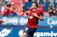 Juan Villar (forward; CA Osasuna) during the Spanish <br /> la League soccer match between CA Osasuna and Almeria at Sadar stadium, in Pamplona, Spain, on Saturday, <br /> September 8, 2018.