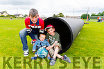 Pictured at the Duagh parish festival on Saturday was L-R: John Bambury, Ben, Luke Bambury Larrson, Duagh.