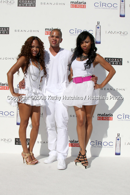 "Megan Good, Dijon Talton, & La'Myia Good  arriving at the White Party hosted by Sean ""Diddy"" Combs & Ashton Kutcher in Beverly Hills, CA on July 4, 2009 .©2008 Kathy Hutchins / Hutchins Photo.."