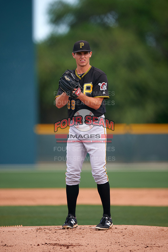 Pittsburgh Pirates Billy Roth (89) during a minor league Spring Training intrasquad game on April 3, 2016 at Pirate City in Bradenton, Florida.  (Mike Janes/Four Seam Images)