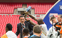 Blackpool's manager Gary Bowyer after the Sky Bet League 2 PLAY OFF FINAL match between Exeter City and Blackpool at Wembley Stadium, London, England on 28 May 2017. Photo by Andrew Aleksiejczuk.