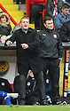 Stevenage manager Gary Smith and assistant manager Mark Newson. - Sheffield United v Stevenage - npower League 1 - Bramall Lane, Sheffield  - 28th April, 2012. © Kevin Coleman 2012