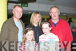 PROGRAMME: looking for a winmner bat the Kingdom Greyhound Stadium, Tralee on Friday night. Front l-r: Caoimha and Cara Donaher, Declan and Breda Donaher and Johnny Kennedy (New Castlewest)..