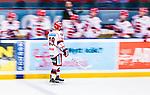 Stockholm 2014-02-24 Ishockey Hockeyallsvenskan Djurg&aring;rdens IF - S&ouml;dert&auml;lje SK :  <br /> S&ouml;dert&auml;ljes Jason Gregoire gratuleras av lagkamrater efter sitt 1-2 m&aring;l<br /> (Foto: Kenta J&ouml;nsson) Nyckelord:  jubel gl&auml;dje lycka glad happy
