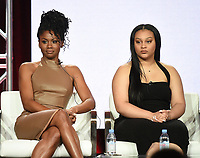 "PASADENA, CA - JANUARY 30: (L-R) Emayatzy Corinealdi and Aliyah Royale of ""The Red Line"" attend the CBS portion of the 2019 Television Critics Association Winter Press Tour at the Langham Huntington on January 30, 2019, in Pasadena, California. (Photo by Frank Micelotta/PictureGroup)"