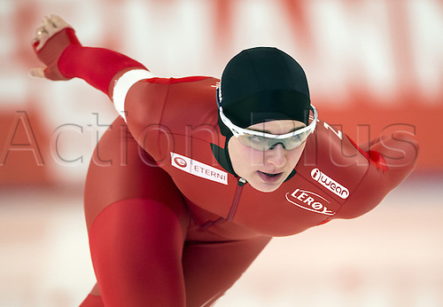 05.03.2016. Berlin, Germany. Ida Njatun of Norway starts her 3000m race against Wuest of the Netherlands, at the ISU World Allround Speed Skating Championships in Berlin.
