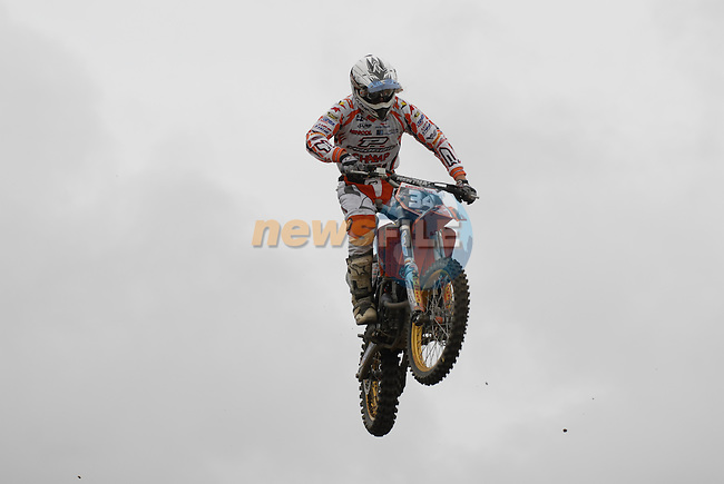 Flying high Joel Roelants (BEL) during the MX2 Race1 at the Motocross Grand Prix at Fairyhouse Race Course, Co.Meath, Ireland, 31st August 2008.(Photo Eoin Clarke/Newsfile)