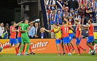 Harrison, N.J. - Friday September 01, 2017:   Costa Rica during a 2017 FIFA World Cup Qualifying (WCQ) round match between the men's national teams of the United States (USA) and Costa Rica (CRC) at Red Bull Arena.