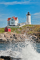 Nubble Light, Cape Neddick, York, Maine, ME, USA