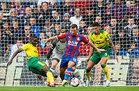 Spot kick for Crystal Palace; Norwich City Ibrahim Amadou faul Crystal Palace James McArthur in penalty area during the Premier League match between Crystal Palace and Norwich City at Selhurst Park, London, England on 28 September 2019. Photo by Andrew Aleksiejczuk / PRiME Media Images.