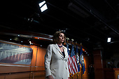 Speaker of the United States House of Representatives Nancy Pelosi (Democrat of California) responds to a reporter who asked her if she hated the President as she departed her press conference at the United States Capitol in Washington D.C., U.S., on Thursday, December 5, 2019.  Earlier this morning, she announced the United States House of Representatives would begin drafting articles of impeachment against United States President Donald J. Trump.