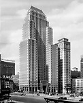 Pittsburgh PA:  On location photography for Kopper's advertising agency.  The Koppers Building is located off Grant Street in downtown Pittsburgh Pennsylvania - 1930.  The Koppers Building is named after the Koppers Chemical Company and was built in 1929. As you can see from the last photo, photo retouching was alive and well in 1930.  Artist removed A Milk sign, billboard, the William Penn Hotel and reduced the size of the Bell Telephone building.