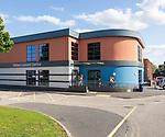 Deben leisure centre modern building Woodbridge, Suffolk, England, UK opened in June 2018