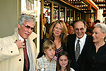 BURT BACHARACH with his wife and children .and HAL DAVID and his wife.Attending the Opening Night Performance of THE.LOOK OF LOVE ... THE SONGS OF BURT BACHARACH .and HAL DAVID at the Brooks Atlinson Theater,.New York City..May 4, 2003.