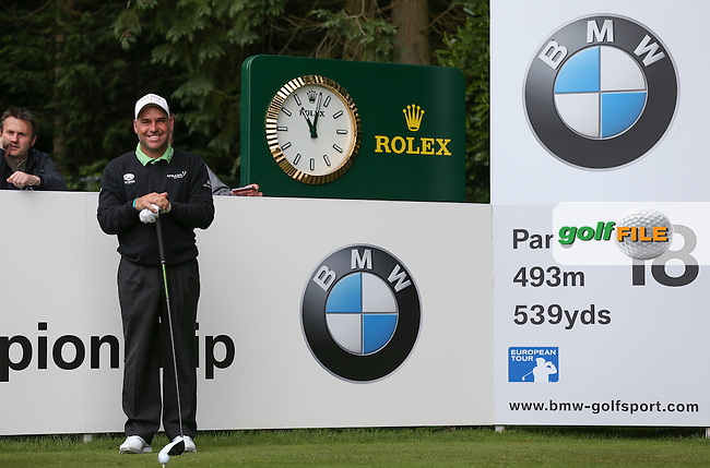 Hennie OTTO (RSA) keeps company with Scottish legends Graham Souness, Gordon Strachan and Kenny Dalglish during the Pro-Am ahead of the 2015 BMW PGA Championship over the West Course at Wentworth, Virginia Water, London. Picture David Lloyd, www.golffile.ie: 20/05/2015