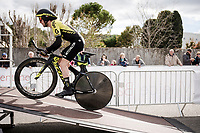 (eventual winner) Simon Yates (GBR/Mitchelton-Scott) at the start of Stage 5 (ITT): Barbentane to Barbentane (25km)<br /> 77th Paris - Nice 2019 (2.UWT)<br /> <br /> ©kramon