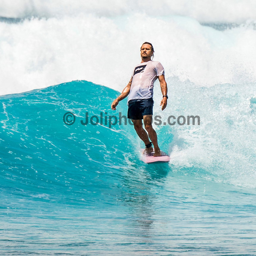 Four Seasons,Kuda Huraa, Maldives (Tuesday, August 4, 2015) Brad Gerlach (USA). The swell was out of the South East today with waves in the 3'-4' range and  slightly conditions. There was a surf session at Sultans this morning with Neco Padaratz (BRA), Sofia Mulanovich  (PRU), Brad Gerlach (USA), Harley Englby (AUS) and Shane Dorian (HAW), competitors in the Four Seasons Maldives Surfing Champions Trophy using the session s a warm up. There was a North West wind  early that swung towards the South during the day. There was also a session at Ninjas in the afternoon.  Photo: joliphotos.com