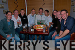 30th Birthday: Shane Herbert(second from left) of Herbert's Bar, Kilflynn, celebtating his birthday with his friends, Kevin Galvin. Shane, Milke & Cyril Lynch,Brendan Culhane, Patrick O'Connell, Mary Kingston, Ray Galvin and Tom McElligott.