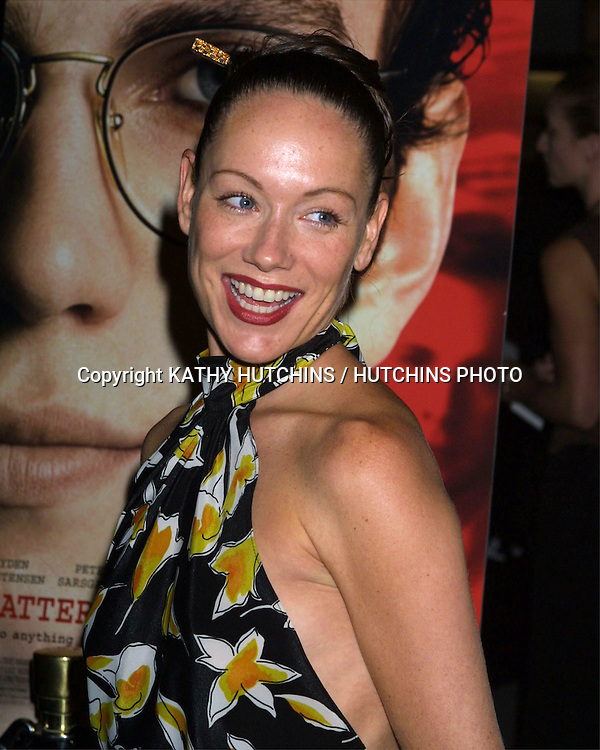 """©2003 KATHY HUTCHINS/ HUTCHINS PHOTO AGENCY.PREMIERE OF """"SHATTERED GLASS"""".ARC LIGHT THEATERS.HOLLYWOOD,  CA.OCTOBER 19, 2003..SIMONE-ELISE GIRARD"""