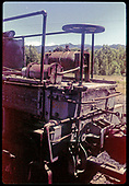 Close view of flanger car end and coupler.<br /> D&amp;RGW  Chama, NM