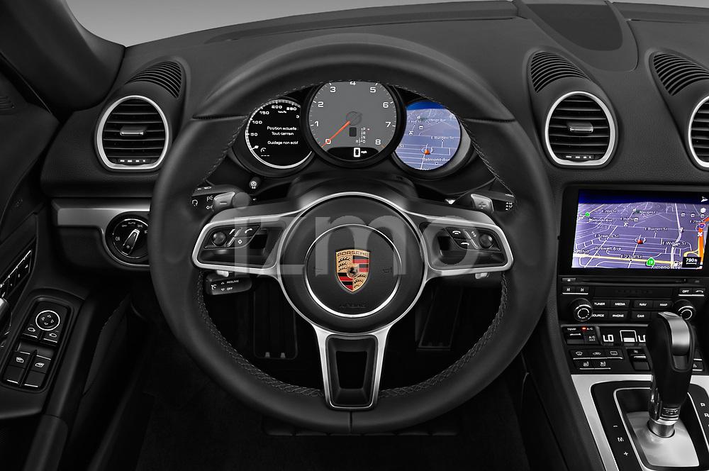 Car pictures of steering wheel view of a 2019 Porsche 718-Boxster S 2 Door Convertible Steering Wheel