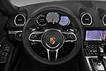 Car pictures of steering wheel view of a 2019 Porsche 718-Boxster S 2 Door Convertible Steering Wheel