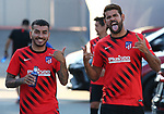 Atletico de Madrid's Angel Correa (l) and Diego Costa during training session. August 5,2020.(ALTERPHOTOS/Atletico de Madrid/Pool)