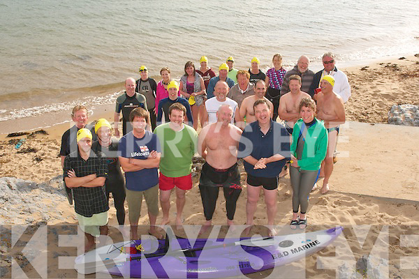 GOING FOR A DIP: Tralee Bay Swimming Club members who gathered in Fenit on Sunday afternoon for the Annual Donal Walsh Memorial swim.   Copyright Kerry's Eye 2008