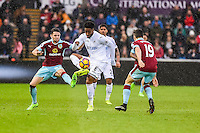 Saturday 04 March 2017<br />Pictured: Leroy Fer of Swansea City in action <br />Re: Swansea City v Burnley, Premier League Match at the Liberty Stadium Swansea, Wales, UK