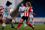 Asmita Ale of Aston Villa and Alethea Paul of Sheffield United battle for the ball during the The FA Women's Championship match at the Proact Stadium, Chesterfield. Picture date: 12th January 2020. Picture credit should read: James Wilson/Sportimage