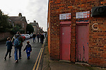 York City 2 Spennymoor Town 2, 20/01/2018. Bootham Crescent, National League North. Faded paint on a disused entrance at Bootham Crescent.  Photo by Paul Thompson.