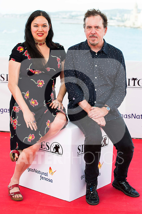 """The director of the film, Anna Biller and the producer Jared Sanford pose to the media during the presentation of the film """"The Love Witch"""" at the Festival de Cine Fantastico de Sitges in Barcelona. October 08, Spain. 2016. (ALTERPHOTOS/BorjaB.Hojas)"""