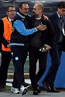 Maurizio Sarri, Pep Guardiola <br /> Napoli 01-11-2017 Stadio San Paolo Calcio Uefa Champions League 2017/2018 Group F Napoli - Manchester City Foto Andrea Staccioli / Insidefoto