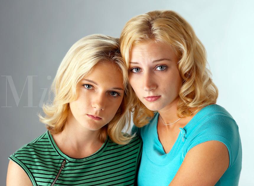 Frightened teen girls.