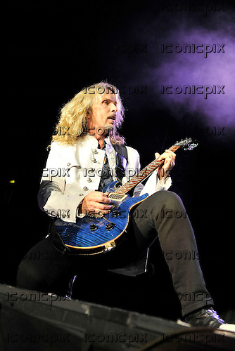 Styx - vocalist Tommy Shaw performing live at Wembley Arena London UK - 04 Jun 2011.  Photo credit: Zaine Lewis/IconicPix