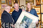 PAINTING: Finola Kerins Louis Walsh and Ann Kerins looking over one of the painting on display at the Antiques Fair in the Carlton Hotel, Tralee on Sunday................................... ....................
