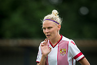 Leah Dunnage of Stevenage Ladies during the pre season friendly match between Stevenage Ladies FC and Watford Ladies at The County Ground, Letchworth Garden City, England on 16 July 2017. Photo by Andy Rowland / PRiME Media Images.
