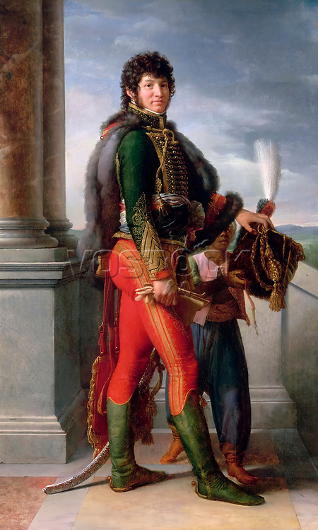 Portrait of Joachim Murat (1767-1815) by Gerard, Francois Pascal Simon (1770-1837) / Musee de l'Histoire de France, Chateau de Versailles / 1801 / France / Oil on canvas / Portrait / 213,5x132 / Neoclassicism