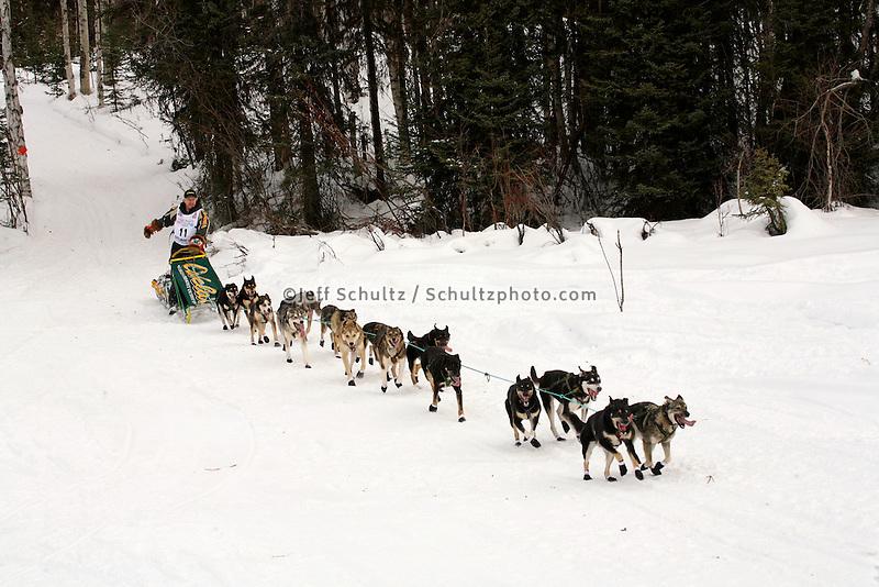 Jeff King Willow restart Iditarod 2008.