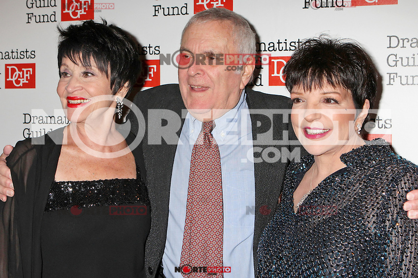 Chita Rivera, John Kander and Liza Minnelli attend The Dramatists Guild Fun's 50th Anniversary Gala at the Mandarin Oriental in New York, 03.06.2012...Credit: Rolf Mueller/face to face /MediaPunch Inc. ***FOR USA ONLY***