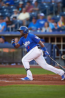 Tulsa Drillers outfielder Yadir Drake (8) at bat during a game against the Midland RockHounds on June 2, 2015 at Oneok Field in Tulsa, Oklahoma.  Midland defeated Tulsa 6-5.  (Mike Janes/Four Seam Images)