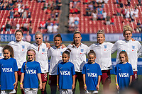 FRISCO, TX - MARCH 11: England stands for their national anthem during a game between England and Spain at Toyota Stadium on March 11, 2020 in Frisco, Texas.