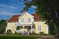The 'Nya Mangardsbyggnaden' New Farm House, where Astrid Lindgren lived and that she used as a model for Villa Villekulla for Pippi Longstocking. Nas. Vimmerby town Smaland region. Sweden, Europe.