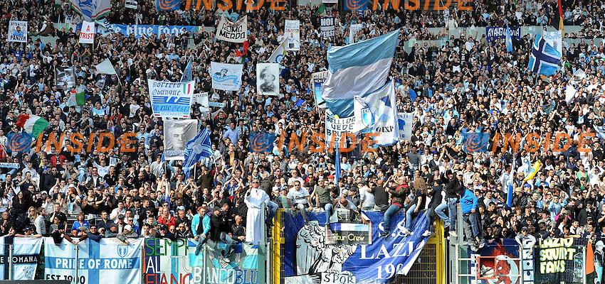 tifosi della lazio.Roma, 04/03/2012 Stadio Olimpico.Football Calcio 2011/2012 .Roma vs Lazio 1-2.Campionato di calcio Serie A.Foto Insidefoto Antonietta Baldassarre