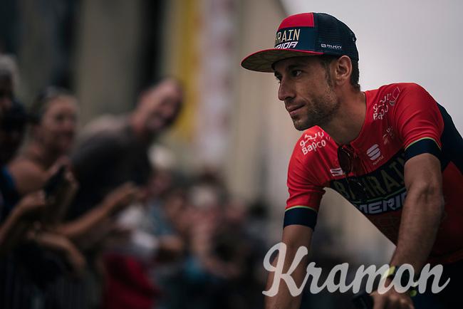 former TdF winner Vincenzo Nibali (ITA/Bahrain-Merida) at the Team presentation in La Roche-sur-Yon<br /> <br /> Le Grand Départ 2018<br /> 105th Tour de France 2018<br /> ©kramon